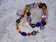 Gorgeous JOAN RIVERS CANDY Bead Necklace with Beautiful Colored Beads  NEW SALE