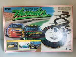 Rare Vintage Tyco Days of Thunder Slot Car Race Track w/Box, Accessories NO CARS