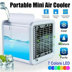 Portable Air Cooler Mini Air Conditioner 3-in-1 Cooler/ Fan/ Purifier Humidifier