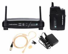 Audio Technica ATW-1101/H92-Th sistema 10 Sistema de Micrófono Auricular Inalámbrico Beige
