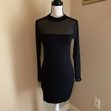 Iconic Black Mesh Neckline Party / Clubbing Dress US Size 12 UK 14 NWT