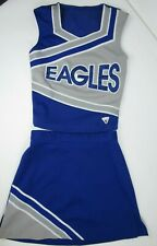 "Eagle Cheerleader Uniform Outfit Costume 2 Sizes 30 or 34"" Top 24 or 26"" Waist"