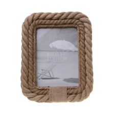 Vintage Nautical Rope Edged Wooden Photo Picture Frame Home Stand Decor