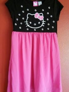 HELLO KITTY 2 Pcs Set Outfit Printed Top and Pants Size 7-8  New Pink New wTags
