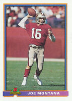 Joe Montana 1991 Bowman #479 San Francisco 49ers Football Card