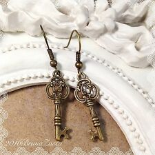 Orecchini Chiavi Chiave Earrings Bronzo Cute Keys Vintage Hipster Regalo Punk