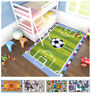 Tappeto cameretta bambini 80X140 morbido shaggy pallone calcio basket unicorno