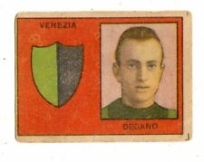 CALCIO  FIGURINA  CALCIATORI   VAV  SERIE I CAPITANI   1950   VENEZIA  DEGANO