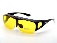 Polarized Sunglasses Fit Over Prescription Glasses Night Driving Flip up Clip