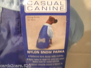 Casual Canine Nylon Snow Parka LARGE Dogs Clothes Aparell Blue Hook &Loop