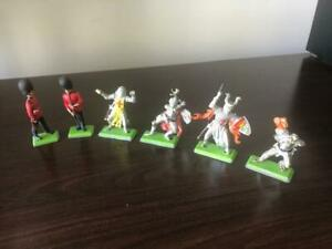 Mixed Lot of 6x Britains Toy Soldier Guards/Knights - Deetail Made in England
