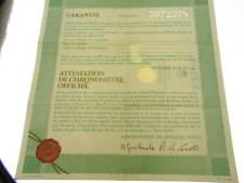 Rolex certificate serial number 3.972.274 genuine garanzia certificato originale