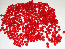 NEW LEGO Translucent Red Tiles 1X1 Round Lot 500 Pieces Smooth Finishing Floor