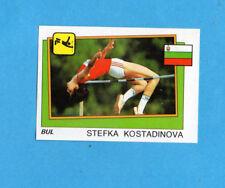 SUPERSPORT 1986-PANINI 86-Figurina n.22-KOSTADINOVA-BULGARIA-ATLETICA-Recuperata
