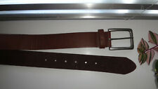Burton Menswear London Brown Real Leather Buckle Belt Size:Small