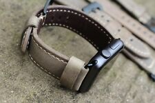 Quality Vintage Rust Brown Leather Watch Strap  Band Apple Watch 42mm Series 1/2