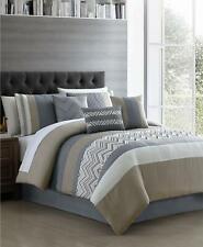 Hallmart Collectibles Jacques 7 Piece Queen Comforter Set Blue / Taupe $200