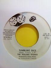 45 GIRI THE ROLLING STONES - TUMBLING DICE JUKE BOX RARO ANNO 1972