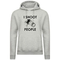 I Shoot people funny Hoodie photography gift Hoody for photographer Camera Hood