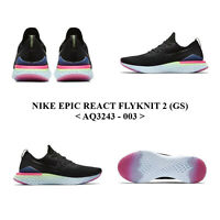 NIKE EPIC REACT FLYKNIT 2 (GS) <AQ3243 - 003>,Unisex Young RUNNING/CASUAl Shoes.
