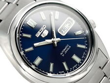Seiko 5 Men's SNXS77J1 Stainless Steel Automatic Day Date Watch Made In Japan