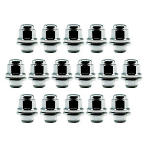 16 Chrome 12x1.5 Lug Nuts for Toyota Factory Aluminum Wheels - Mag Seat