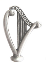 Ireland Irish Harp Pewter Pin Badge