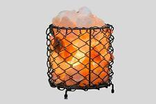 Himalayan Salt Lamp Basket Round Iron Filled With Salt Chunks 100% Genuine