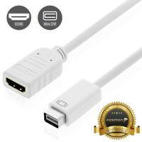 Fosmon Mini-DVI To HDMI M/F Adapter Cable Cord Plug for Apple iMac Macbook Pro