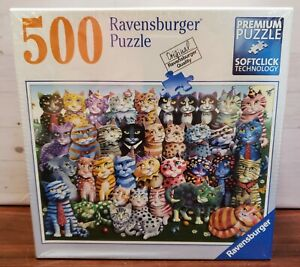 Ravensburger Puzzle Cat Family Reunion Artist Laura Seeley 500 Pieces Jig Saw