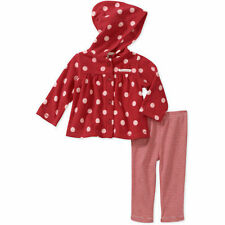NEW Girls Carter's 3-6 Months Christmas Fleece Hooded Top Legging Set Santa