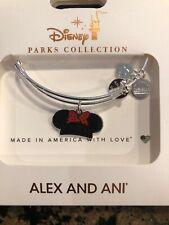 Disney Parks Alex and & Ani Minnie Mouse Ears Mom Silver Bangle Bracelet