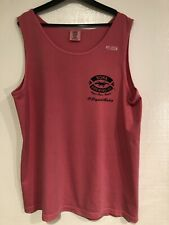Women's Comfort Colors Liquid Aloha Hawaii Cotton Coral Tank Top Sizes S, M, L