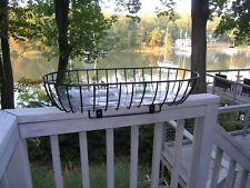 Patio Rail Planter - straddles wooden deck railing