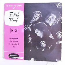 33T 25cm Edith PIAF Vinyle TOUR DE CHANT N° 2 A L'OLYMPIA - COLUMBIA 1065 RARE