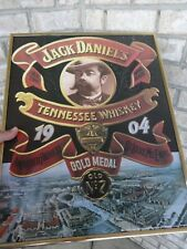 1998 Jack Daniel's Framed Poster Tennessee Whiskey Gold Medal