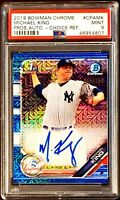 MICHAEL KING 2019 Bowman Chrome RC AUTO BLUE Choice Refractor /150 PSA 9 YANKEES