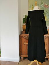 £159 Karen Millen bardot one shoulder Knit midi dress size XS size UK 8 KC072