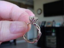 sale 14k  2ct. Solitaire MOISSANITE  & real DIAMOND  bridal  Ring / semi mount