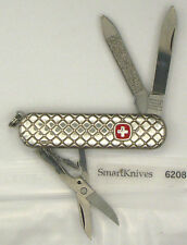 Wenger Esquire Sterling Silver Swiss Army knife- vintage Quilted, NIB #6208