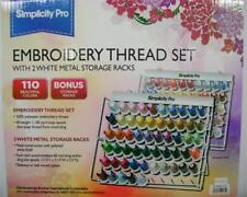 Brother ETKS110 110 Cones Simplicity Pro Machine Embroidery Thread Set with rack