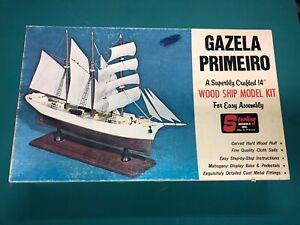 Vintage STERLING GAZELA PRIMEIRO Wood Ship Model Kit