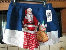 Santa Claus Christmas silk boxer shorts underwear New old Stock w/ tags vintage