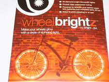 Wheel Brightz 2 RED Light LED Bicycle Bike For 2 Wheel.