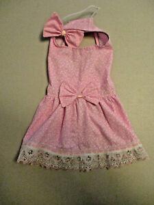 M Dog dress [pink] cotton handmade