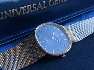 Universal Geneve White Shadow Automatic Polerouter Blue (Patek Philippe Ellipse)