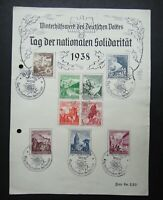 Germany Nazi 1938 Stamps Castle scenes various flowers Winter Help WWII Third Re