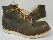 "Red Wing 4548 Classic 6"" Concrete Rough & Tough Grey Moc Toe Boots Size 13 D"
