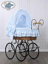 My Sweet Baby Retro Luxus Stubenwagen Nostalgiestubenwagen Weide XXXL Blau TÜV
