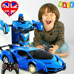 Transformer RC Robot Car Remote Control 2 IN 1 Kids Boys Toys Birthday Gift Toy